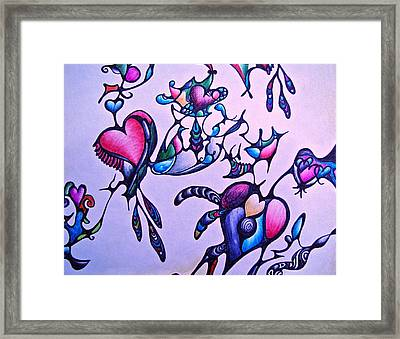 Heart Connections Framed Print by Lori Miller