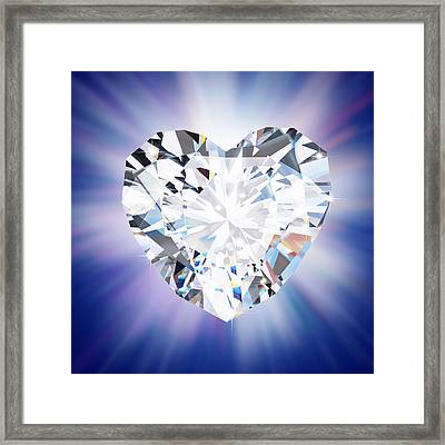 Heart Diamond Framed Print