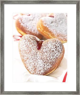 Heart Donuts Framed Print by Federico Arce
