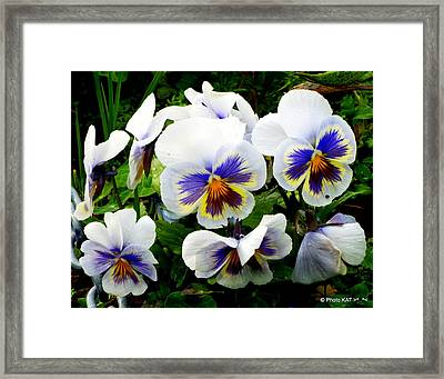 Heart Ease In White Framed Print