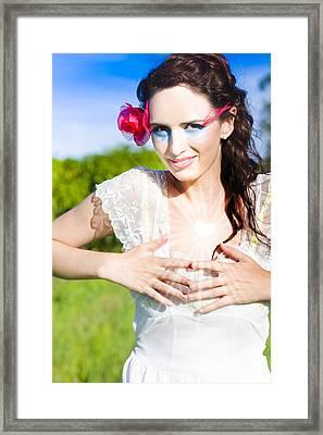 Heart Felt Love Framed Print