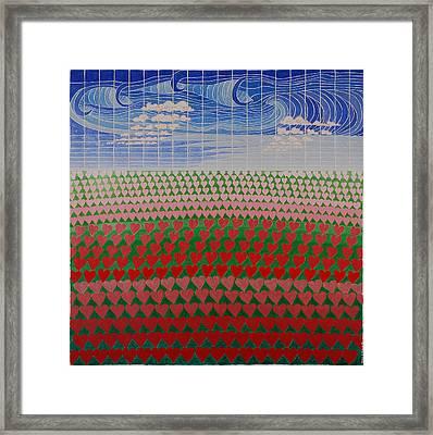 Heart Fields Framed Print