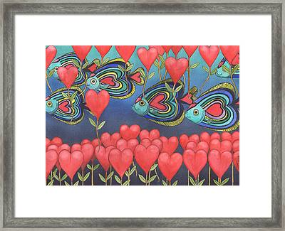 Heart Fish Framed Print