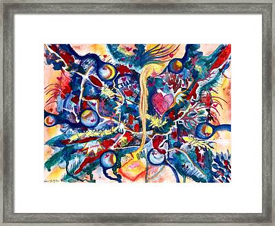 Heart Flow Framed Print