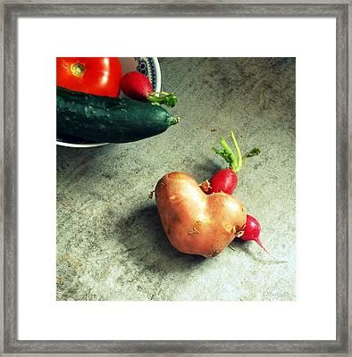 Heart For Lunch Framed Print