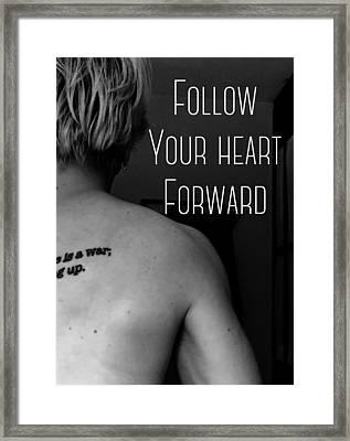 Heart Forward Framed Print by Sara Young