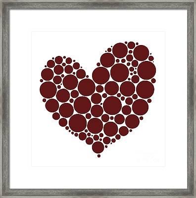 Heart Framed Print by Frank Tschakert