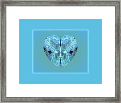 Heart - Ghost Blue Framed Print