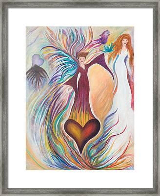 Heart Goddess Framed Print by Leti C Stiles