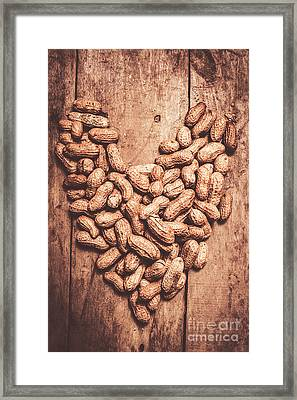 Heart Health And Nuts Framed Print