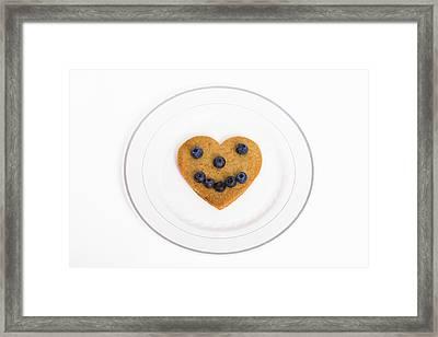 Heart Healthy Pancake Framed Print by Diane Macdonald
