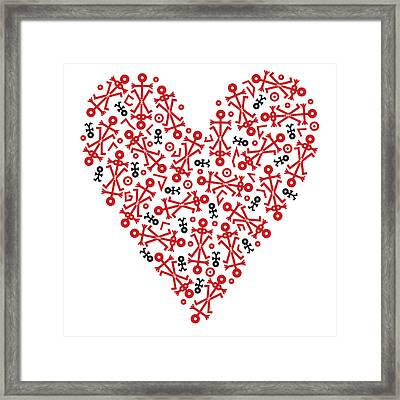 Heart Icon Framed Print by Thisisnotme