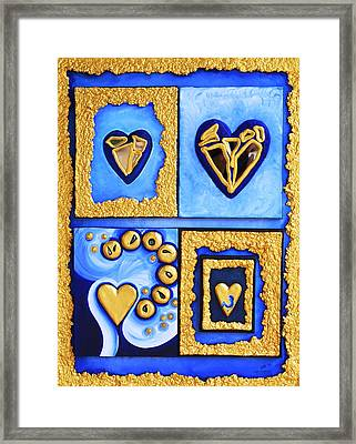 Heart In Motion Framed Print by Catt Kyriacou