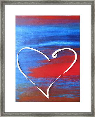 Heart In Motion Framed Print by Lindie Racz