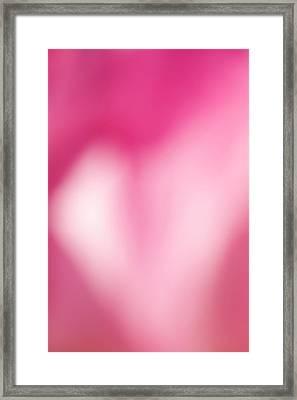 Heart In Pink Framed Print by Jouko Mikkola