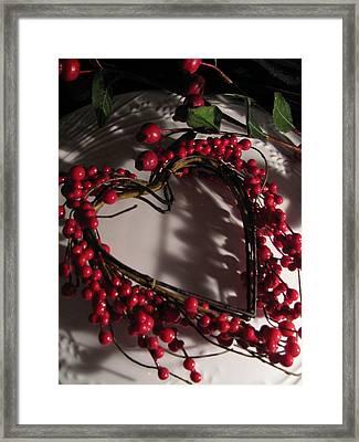 Heart In Shadow Framed Print by Lindie Racz
