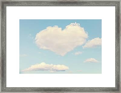 Heart In The Clouds Framed Print by Debi Bishop
