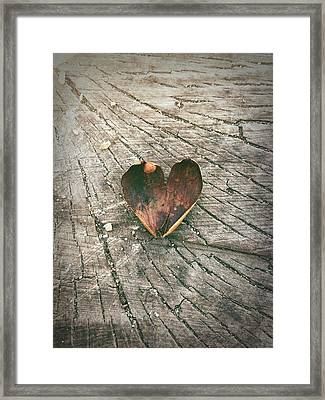 Heart In The Woods Framed Print by Robert Chambers