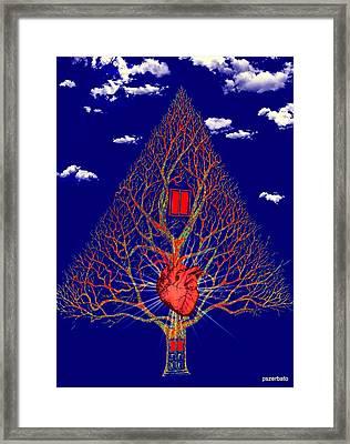 Heart Is The Abode Of The Spirit Framed Print