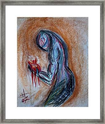 Heart Framed Print by Jennifer Addington
