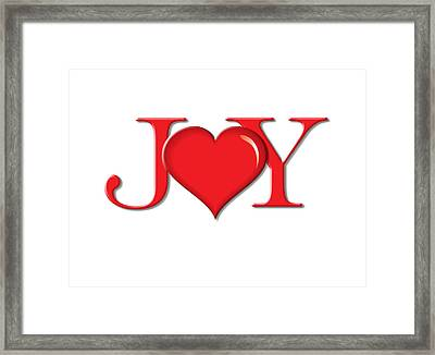 Heart Joy Framed Print