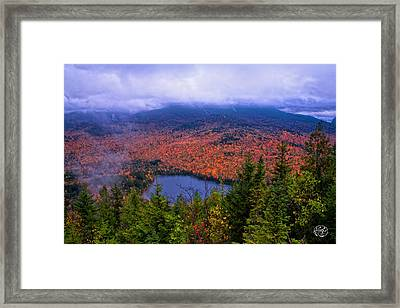 Heart Lake Framed Print by Brad Hoyt