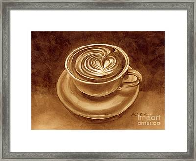 Heart Latte Framed Print by Hailey E Herrera