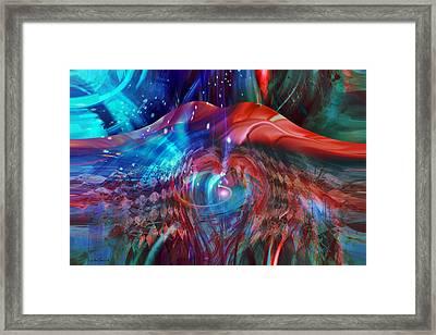 Heart Lips Framed Print by Linda Sannuti