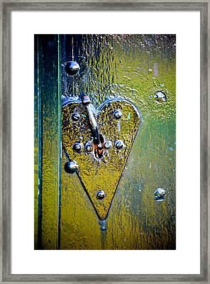 Heart Lock Framed Print