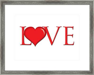 Heart Love Framed Print