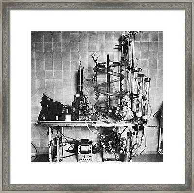 Heart-lung Machine, 20th Century Framed Print by