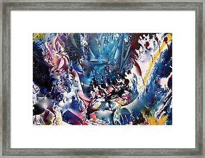 Framed Print featuring the painting Heart Magic Tour Ride  by Lori Miller
