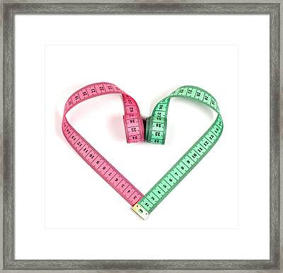 Heart Measuring Tape Framed Print by Boyan Dimitrov