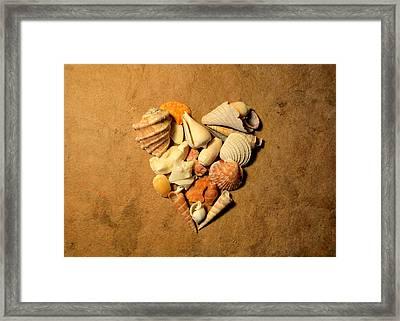 Heart Mosaic On Paper 8 Framed Print
