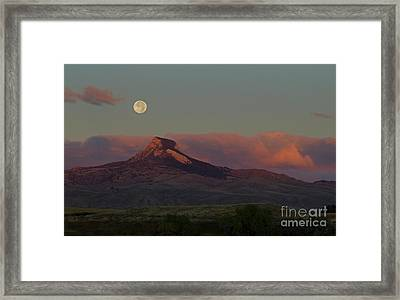 Heart Mountain And Full Moon-signed-#0273  #0273 Framed Print