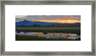 Heart Mountain Sunset Framed Print