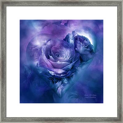 Heart Of A Rose - Lavender Blue Framed Print