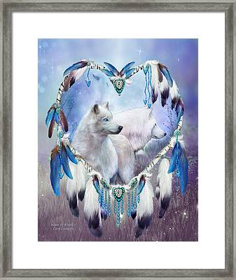 Heart Of A Wolf 2 Framed Print