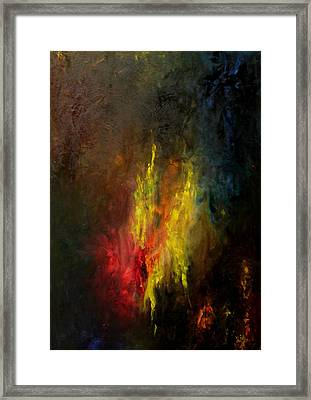 Framed Print featuring the painting Heart Of Art by Rushan Ruzaick