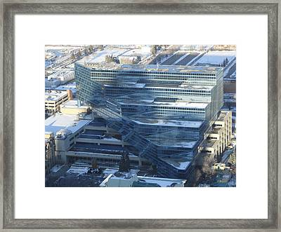 Heart Of Calgary Framed Print