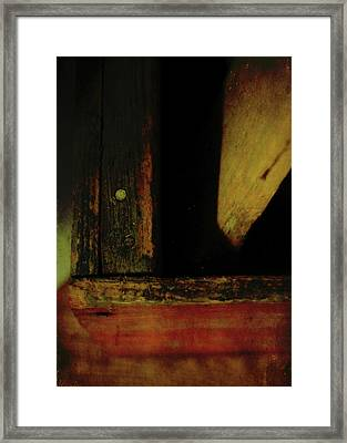 Heart Of Darkness And Light Framed Print by Rebecca Sherman