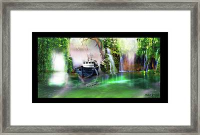 Heart Of Darkness Framed Print by Michael Cleere