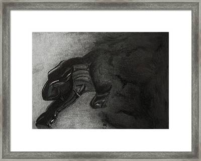 Heart Of Darkness Framed Print by Nick Young