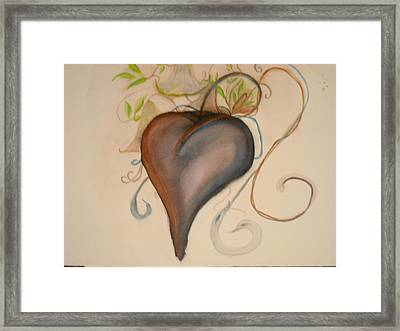 Heart Of Flowers Framed Print