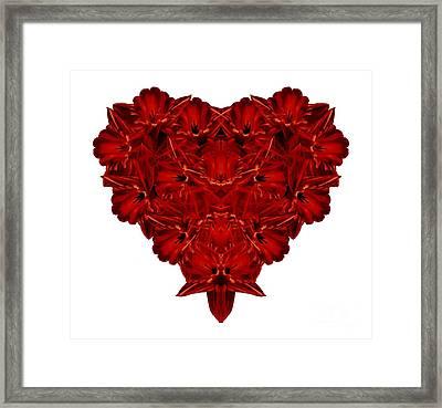Heart Of Flowers T-shirt Framed Print by Edward Fielding