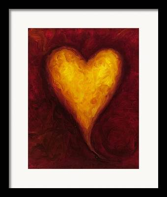 Red And Gold Framed Prints