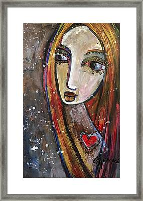 Framed Print featuring the painting Heart Of Gold by Laurie Maves ART