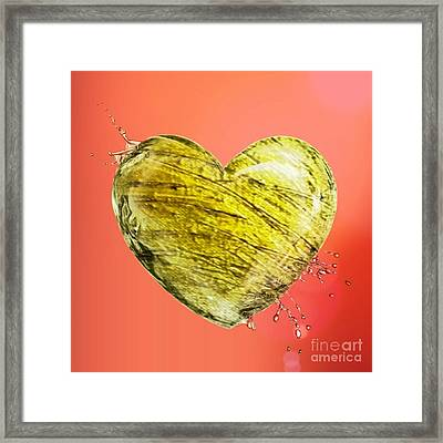 Heart Of Gold Framed Print