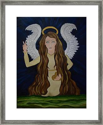Heart Of Gold Framed Print by Wendy Wunstell