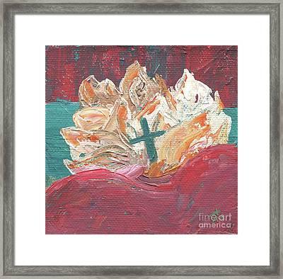 Heart Of Jesus Framed Print by Danielle Tayabas